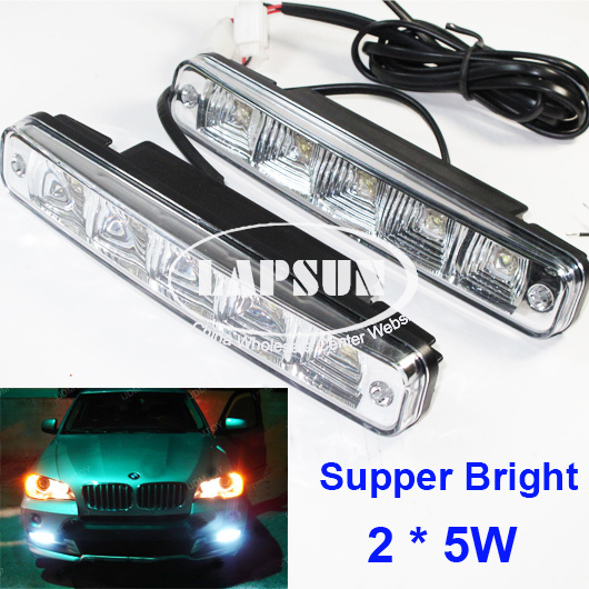 2X 5 LED 10W Car Daytime Running Light Universal Brabus Style DRL Head Lamp 238