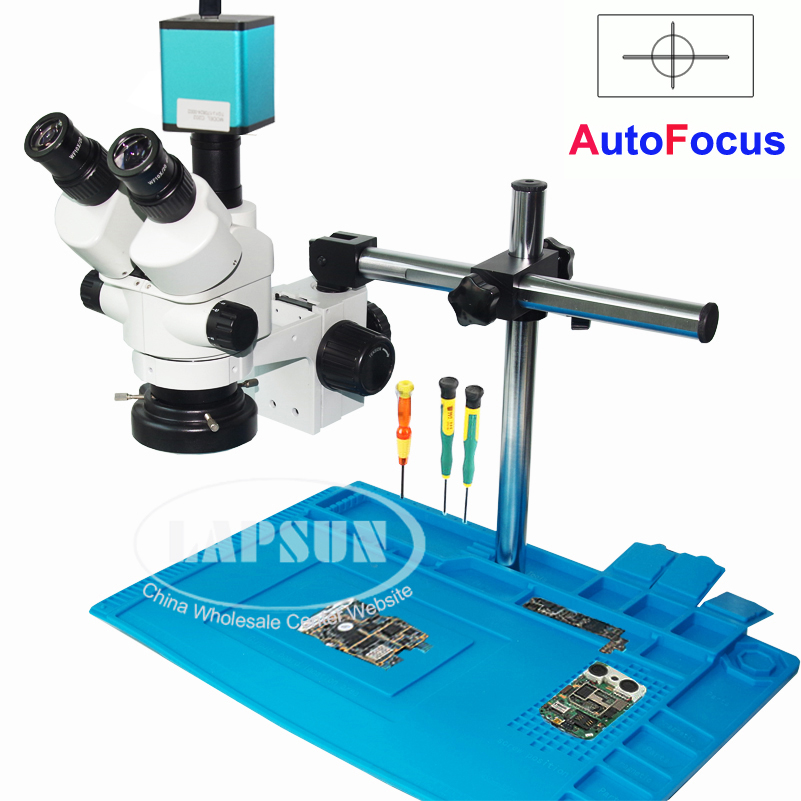 Auto Focus HDMI 1080P SONY IMX290 Digital Camera Simul-focal Trinocular Stereo Microscope
