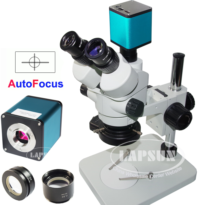 Auto Focus HDMI FHD SONY IMX290 Digital Camera Simul-focal Trinocular Microscope