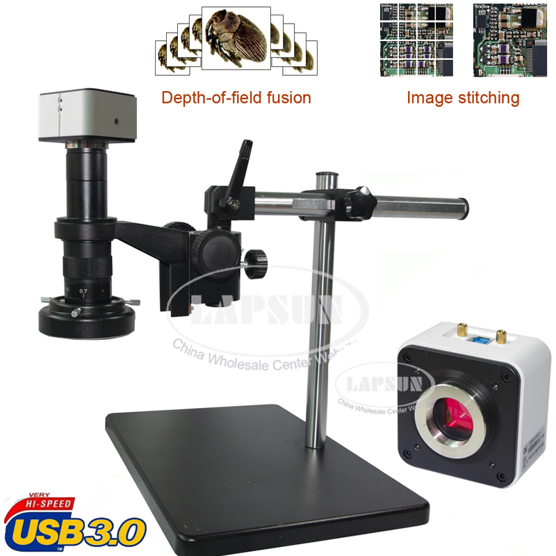 20-180X Panorama USB 3.0 C-mount Lens Industrial Microscope Camera Sony IMX178