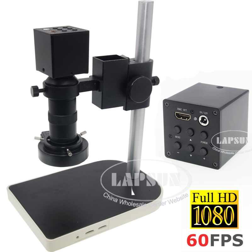 8X-100X Zoom 1080P 60FPS FHD HD HDMI C-mount Microscope Camera FOR Industrial Lab C28-H
