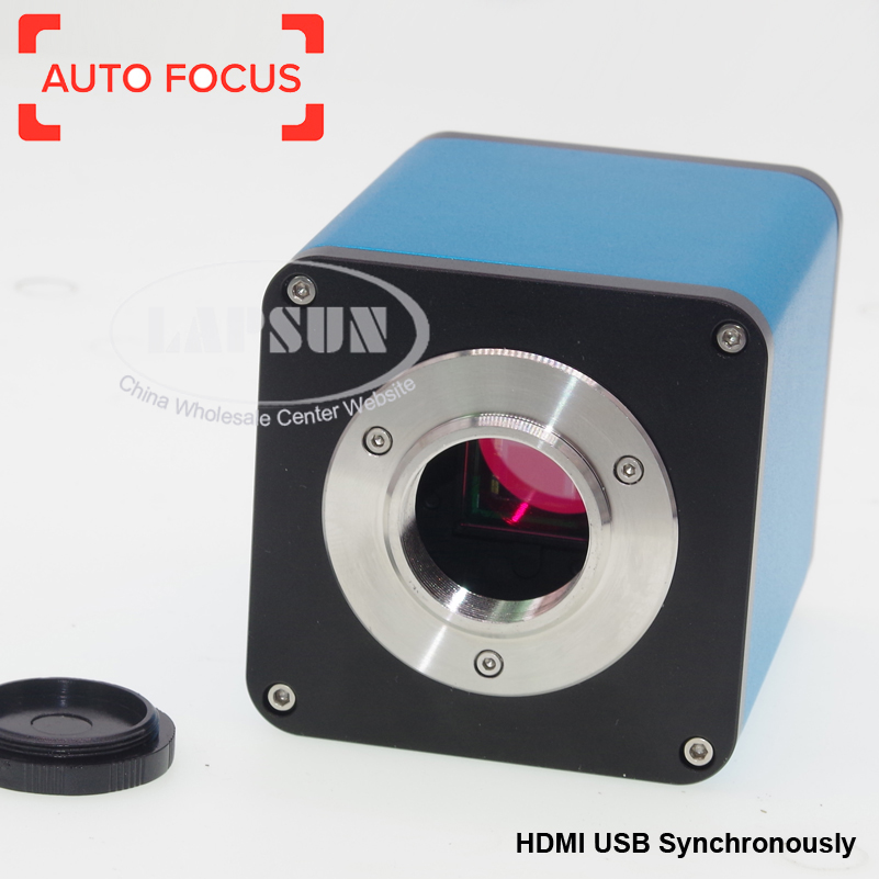 Auto Focal 12MP 60FPS HDMI USB Synchronous Industrial C-mount Microscope Camera + Measure + Depth of field Fusion