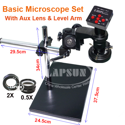 2019 Lastest 38.0MP HD Industrial Lab Microscope Camera 2K @24FPS HDMI, 1080P @60FPS HDMI / USB Output , TF Card Video Recorder + 4GB TF Card