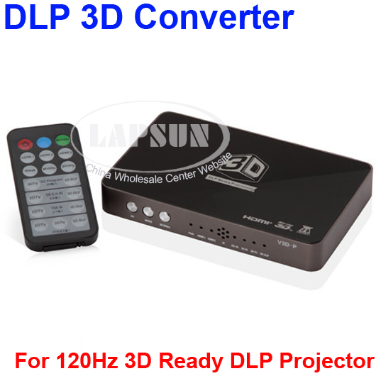 Real DLP 2D to 3D Converter 2 HDMI 1.4 HD 120Hz Video For Ready DLP Projector