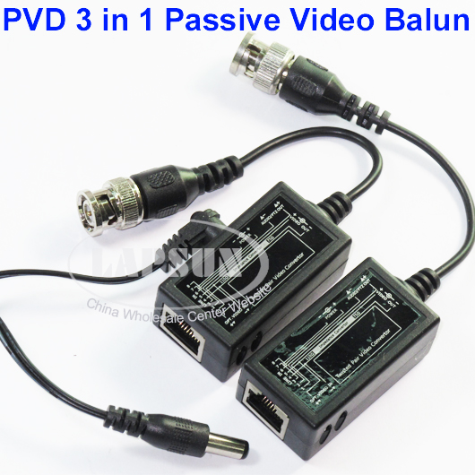 8pcs PVD Passive Video Convertor PTZ Power Audio RJ45 Twisted Pair F CCTV Camera