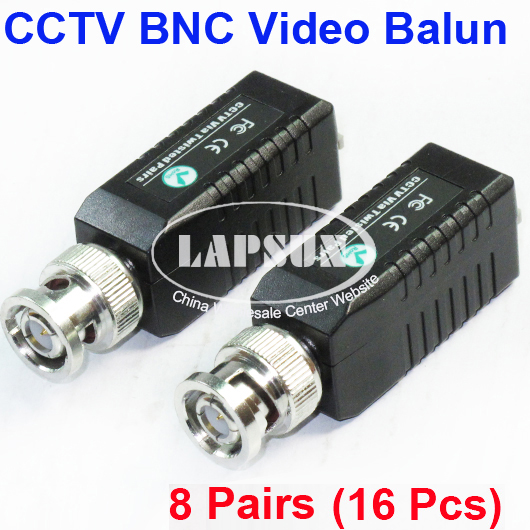 8 Pairs CCTV Passive Video Balun UTP Transivers BNC CAT5 Cable Connectors 103A