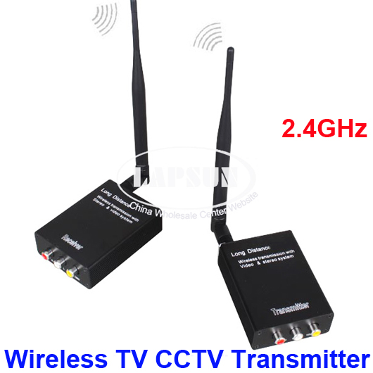 2.4G Wireless AV 1W Sender TV CCTV Camera DVR Audio Video Transmitter Receiver