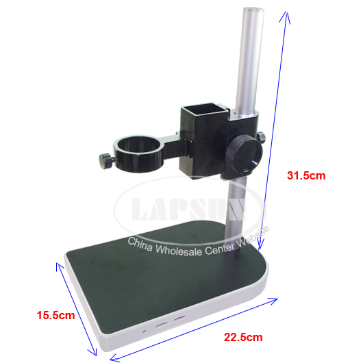 Big Lab Industry Stereo Microscope Camera Table Stand Dual Ring Holder max 43mm