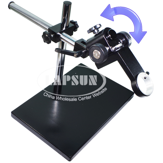 Dual-arm Heavy Duty Metal Boom Stereo Table Stand Holder for Microscope Camera