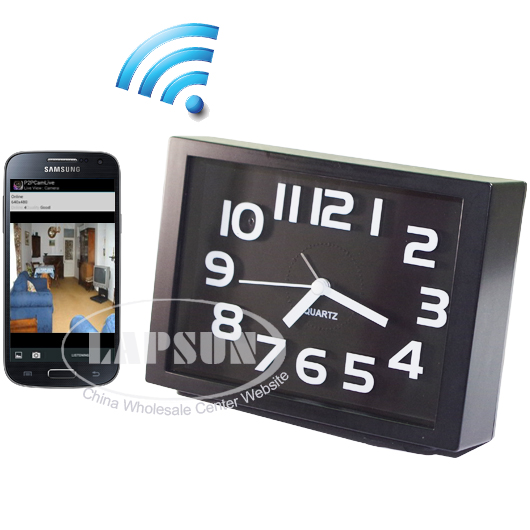8GB 720P Spy WIFI Camera CCTV DVR Clock Motion Activated F/ iPhone Android phone