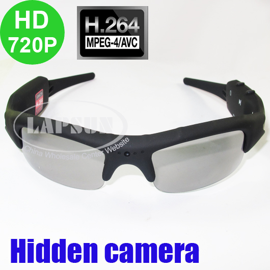 H.264 HD 720P Video Audio Sunglasses Spy Eyewear Recorder Hidden Camera DVR