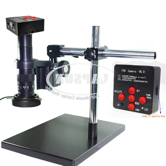 180X 16MP 1080P 60FPS HDMI Industrial Digital Microscope Camera Universal Stand