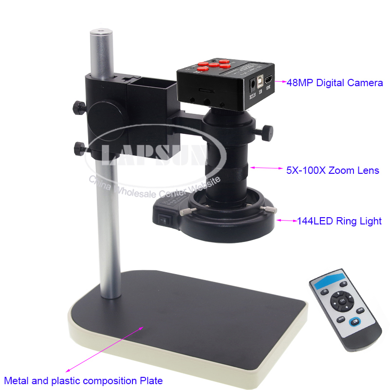 16MP 1080P 10X -100X HDMI Digital Industry Microscope Set Camera Video Zoom Lens Freeshipping
