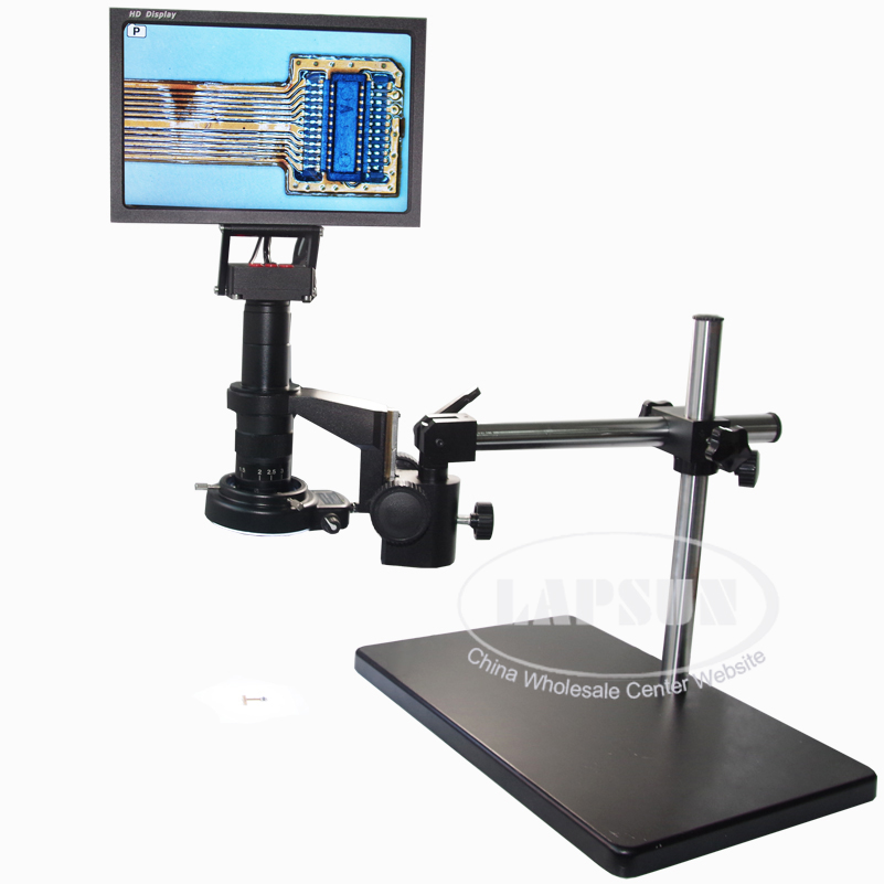 "16MP 1080P 60FPS HDMI 180X Lens Digital Microscope Camera + 10"" HD LCD Monitor"