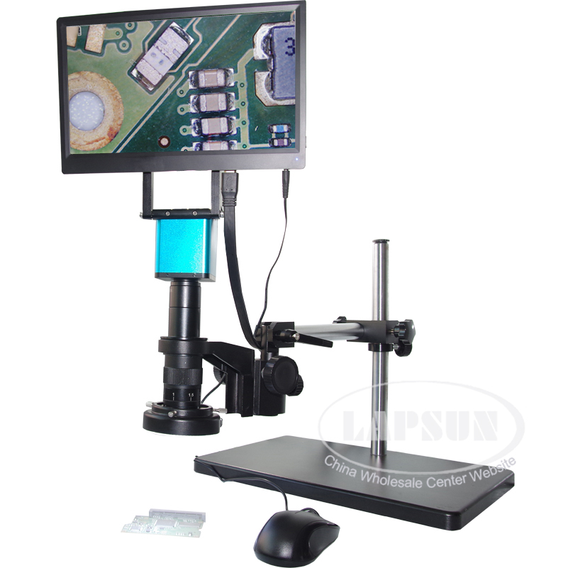 "1080P 60FPS HDMI 180X Lens Digital Microscope Camera Sony IMX290 (NOT AUTO)+ 11.6"" Monitor"