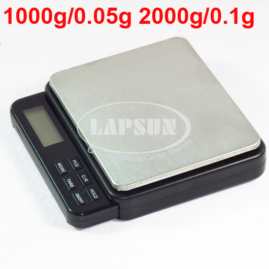 KC-2105 Professional Mini Digital Pocket Scale 1000g/0.05g 2000g/0.1g