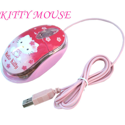 Hello Kitty 1200DPI 3D LED Optical USB Mouse Win 7 Win 8