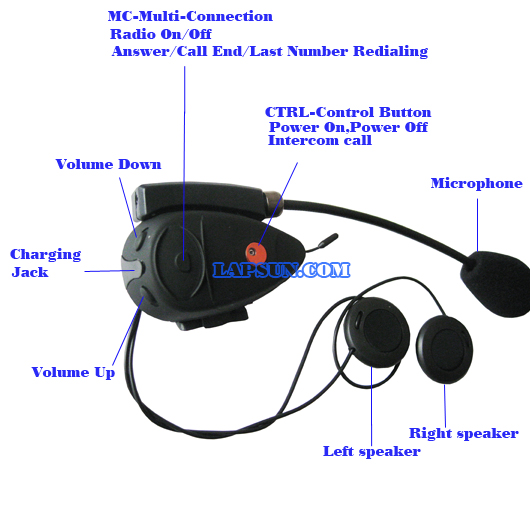 twins bluetooth bt motorcycle helmet headset intercom 2 ebay. Black Bedroom Furniture Sets. Home Design Ideas
