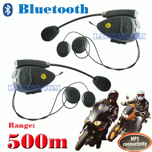 500M Twins Bluetooth headsets Bike To Bike Intercom Talk