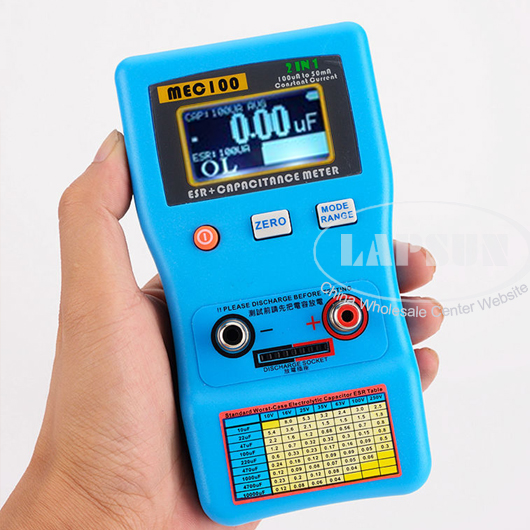 Fluke Esr Meter : In auto ranging capacitor esr low ohm capacitance