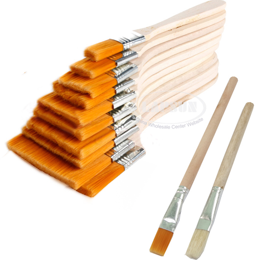 nylon mao banshua oil painting brush bbq clean wooden cleaning pig hair brush us ebay. Black Bedroom Furniture Sets. Home Design Ideas