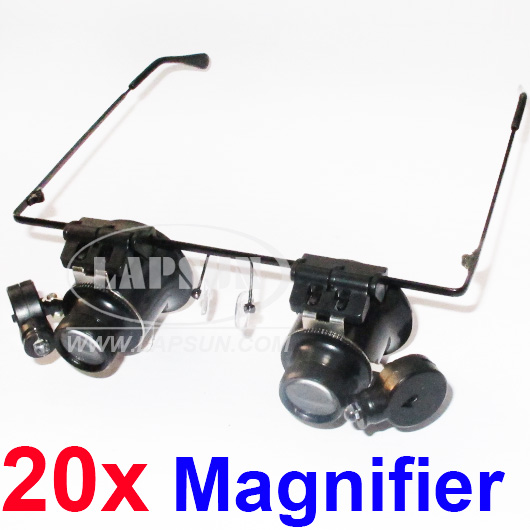 20X Eye Dual Jewelry Watch Repair Magnifier Magnifying