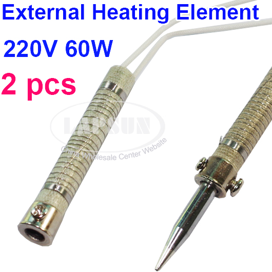 2pcs 220v 60w electronic soldering iron external heating element wire core ls hm240. Black Bedroom Furniture Sets. Home Design Ideas