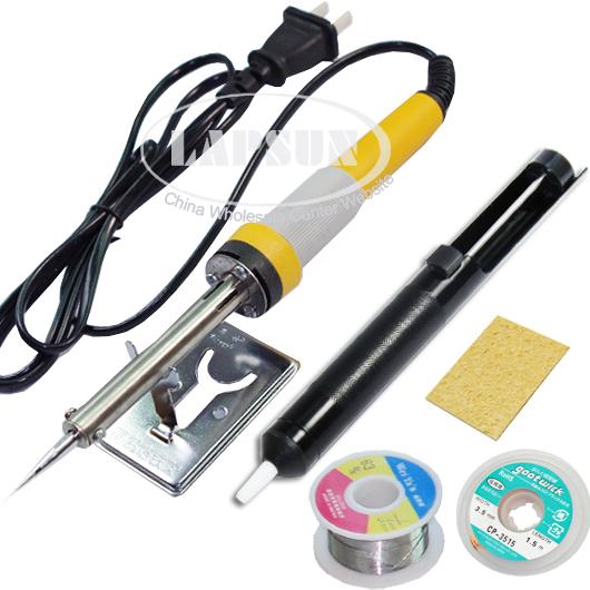 110v 30w electric soldering iron kit gun set desoldering pump sucker wire lead ebay. Black Bedroom Furniture Sets. Home Design Ideas