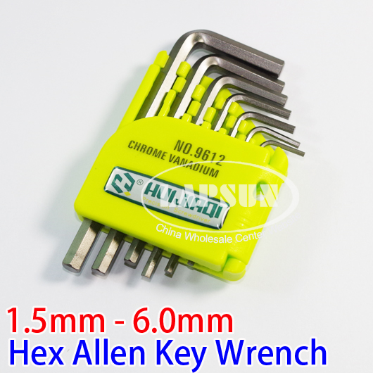 CR-V Hexagon Hex Allen Key Wrench Screwdriver Set Tool Kit 1.5mm - 6mm NO.9612