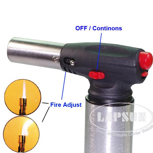 Gas Pen Shaped Flame Culinary Food BBQ Torch Tool Butane