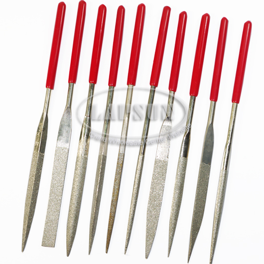 10pcs Diamond Coating Needle File Set 180mm for Jewelers Steel Stone Glass Metal