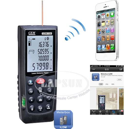 Bluetooth Laser Distance Meter Area Volume Measure for iPhone iPad Android Phone