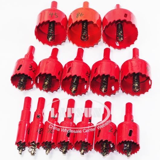 15pc Bi Metal M42 Hss Hole Saw Cutter Drill Bit Set For