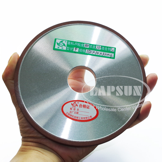 150mm Resin #180 Grit Diamond Rotary Grinding Round Wheel Disc For Mill Lathe