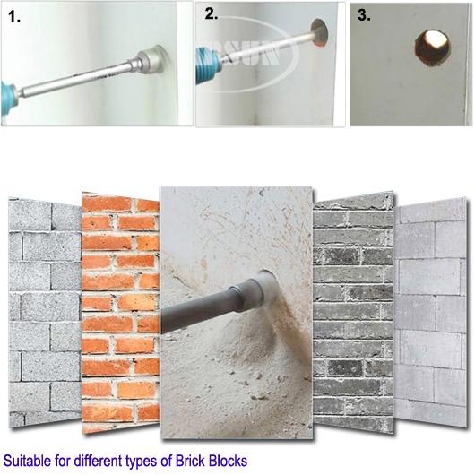 Concrete Cutting Tools Wall : Sds max mm wall stone impact hammer drill bits set