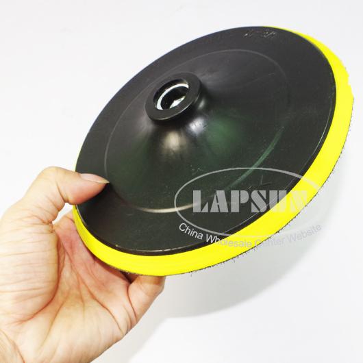 100mm 125mm 150mm 180mm Polisher Bonnet Backing Pad Angle