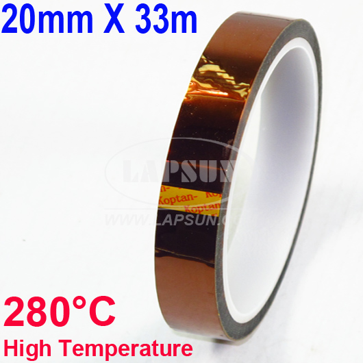 20mm X 33m 100ft Kapton Tape High Temperature Resistant 280°C BGA PCB Soldering