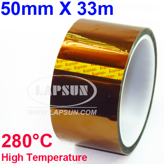 50mm X 33m 100ft Kapton Tape High Temperature Resistant 280°C BGA PCB Soldering