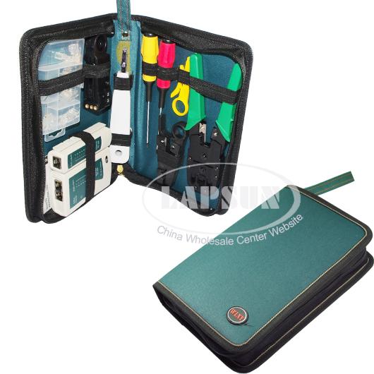 Cat 5 Cable Tester Kit : Pcs rj cat lan network tool kit set bag cable