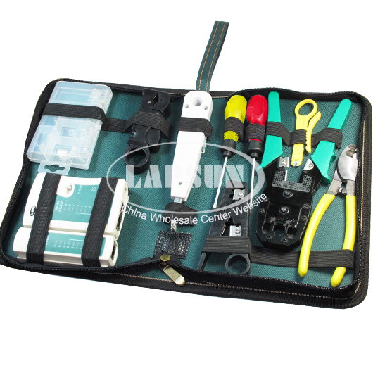RJ45 LAN Network Tool Set Cable Tester Crimp Crimper Plug Pliers Wire Cutter