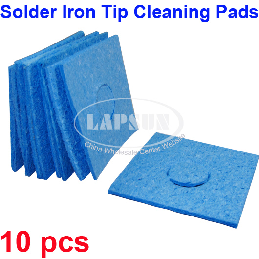 10 universal soldering iron cleaner replacement sponges solder tip clean pads. Black Bedroom Furniture Sets. Home Design Ideas