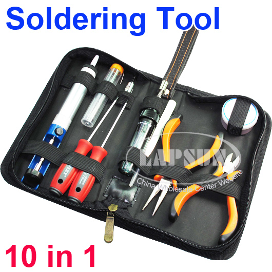 Shaped Gas Soldering Iron Long Nose Pliers Wire Cutter Screw Driver Set