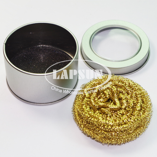 soldering solder iron tip cleaner clean copper wire sponge set ball metal box. Black Bedroom Furniture Sets. Home Design Ideas