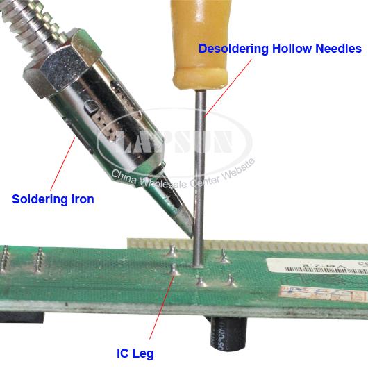 8pcs//set Desoldering Tool Hollow Needles For Electronic DIP PCB Soldering