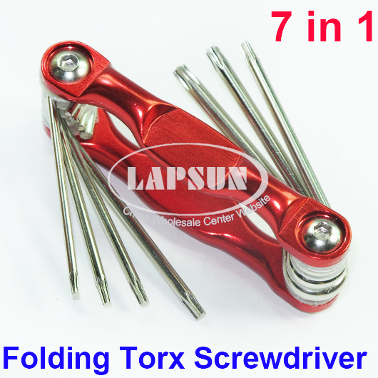 Folding TORX Screwdriver Set T6 T7 T8 T9 T10 T12 T15 Phone Repair Tool 7in1