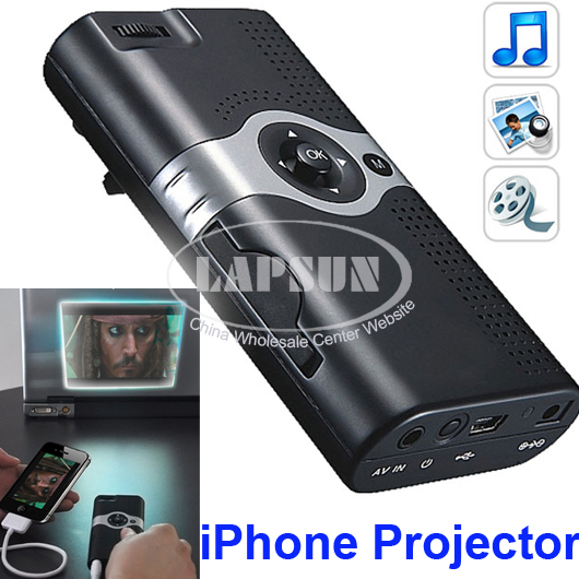 Portable mini multimedia projector pocket cinema f iphone for Iphone movie projector