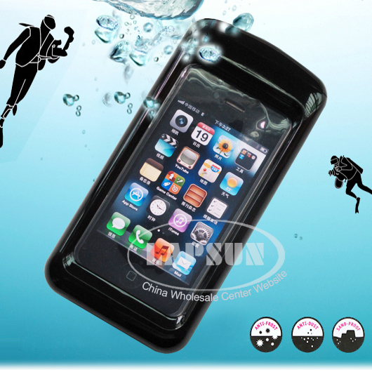 New Waterproof Box Protective Hard Case Cover F Apple iphone 4 4S ipx8 Degree