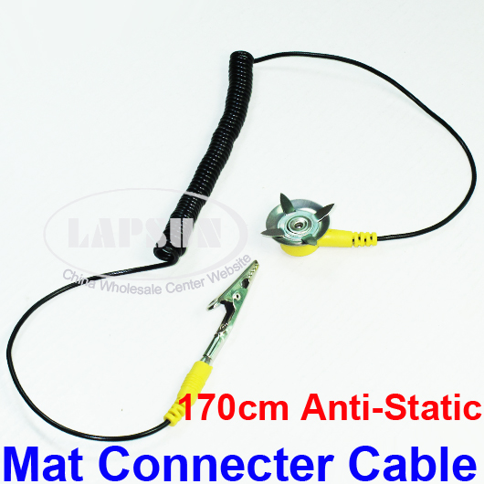 Anti Static Floor Grounding Ribbon : Anti static esd grounding cm mat stud connecter cable