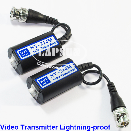 1 Pair Passive Video Balun UTP Transceiver Transmission F CCTV Camera NV214M