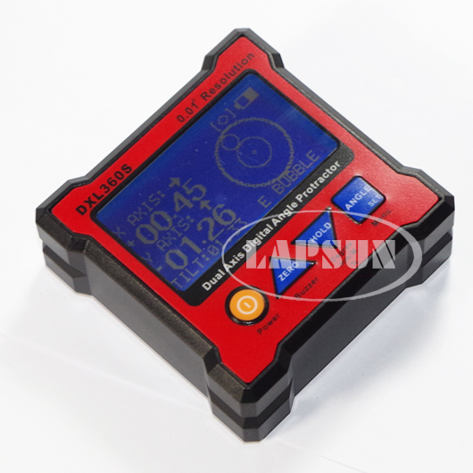Dual & Signal Axis Digital LED Protractor Inclinometer Level Box 0.01° DXL360